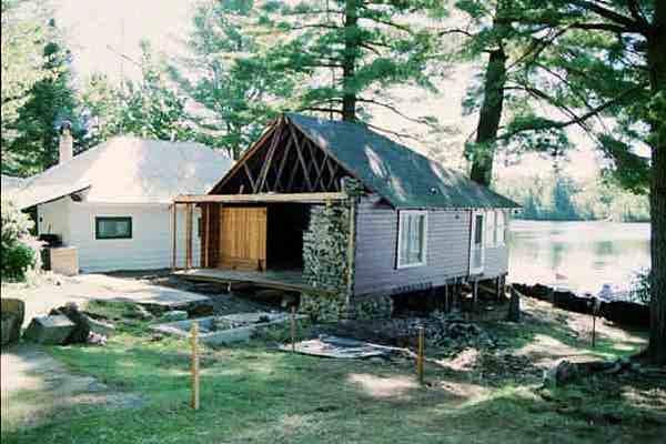 Picture of the Lake House before it is demolished
