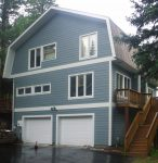 Picture of new siding on a home damaged by weather.