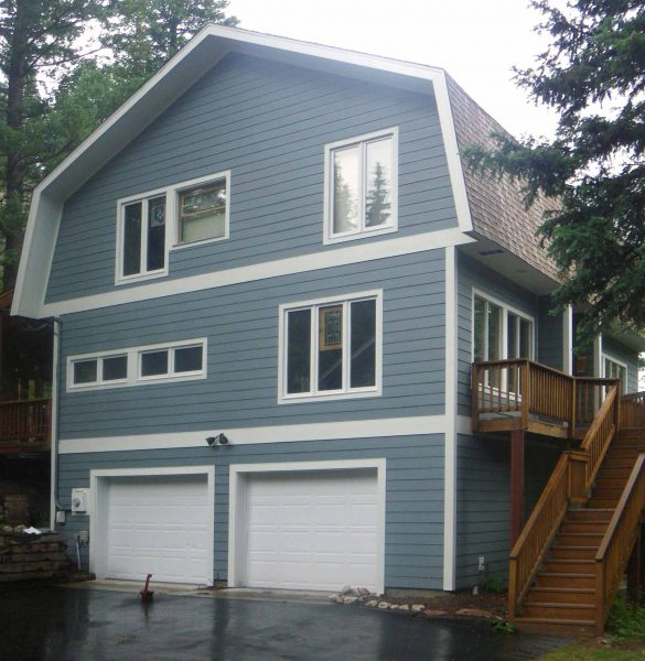 After replacement of siding this home has a new, updated look.