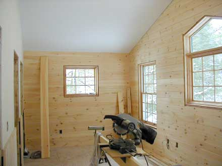 Picture of a bedroom under construction