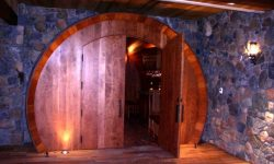Picture of the entrance to the world's largest wine barrel wine tasting room